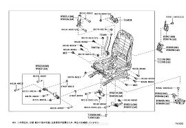 front seat u0026 seat track lexus part list jp carparts com
