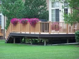 Backyard Small Deck Ideas Interesting Wooden Deck Designs For Small Backyard Combine