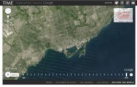 Maps Google Com Las Vegas Time Warp Google Earth Engine Lets You Compare How Mississauga