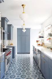 White Blue Kitchen Modern Deco Kitchen Reveal Emily Henderson Kitchens Modern