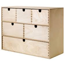 Desk Drawer Organizer by Moppe Mini Chest Of Drawers Birch Plywood 42x18x32 Cm Ikea