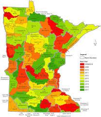minnesota on map lake monitoring minnesota pollution agency