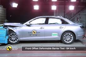 audi a4 obtains five star rating in euro ncap crash test video