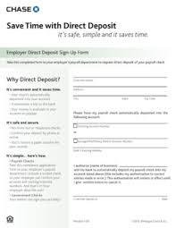 free chase bank direct deposit form pdf eforms u2013 free fillable