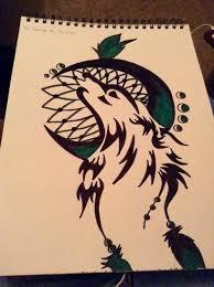tribal wolf dream catcher by livingdeadgirl1996 on deviantart