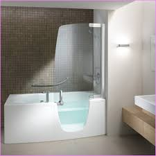 high end walk in tub shower combo for edgy bathroom decor and