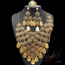 big necklace sets images Latest design jewellry set indian wedding gold color jewelry sets jpg