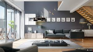 living room light gray walls dark couch pops of color best