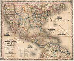 states canada map 1854 map of the united states canada mexico and the west indies