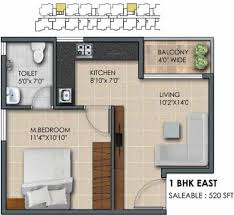 520 sq ft 1 bhk 1t apartment for sale in subha builders 9 sky vue