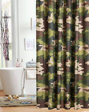 Mens Shower Curtains Camouflage Fabric Shower Curtains Ebay