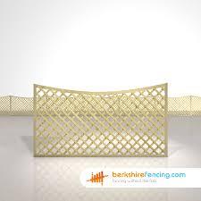 concave diamond trellis fence panels 3ft x 6ft natural berkshire