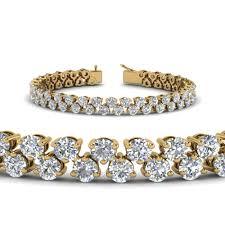 white diamond tennis bracelet images 5 30 carat diamond tennis bracelet women in 14k yellow gold jpg