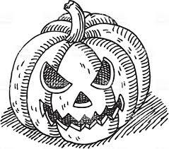 halloween title transparent background halloween pumpkin drawing stock vector art 165927368 istock