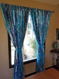 Hippie Drapes Boho Curtains Boho Door Curtains Gypsy Curtains Rag Curtains