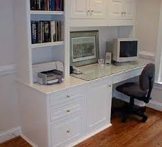 Built In Computer Desk Adorable Built In Computer Desk Ideas Built In Computer