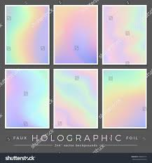 hologram backgrounds set six 3 x stock vector 648896314