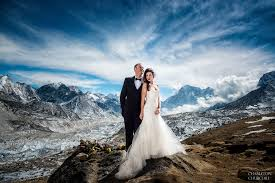 Wedding Pictures Mount Everest Base C Adventure Wedding Photography