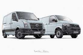 volkswagen crafter dimensions two panel vans illustrations creative market