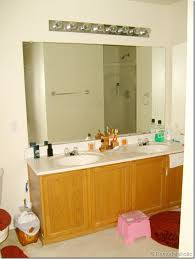Large Bathroom Mirror With Lights Remodelaholic Framing A Large Bathroom Mirror