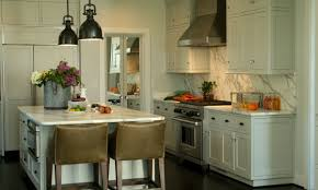 Kitchen Island With Oven by Beauteous Modern Small Kitchen With Modular Shape White Wooden
