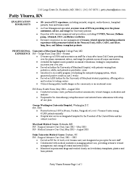 Nurses Resume Examples by Nursing Resume Sample Resume For Your Job Application