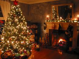 winter christmas tree beautiful fireplace lights free desktop