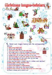 english exercises christmas fun