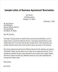 sample termination of business letter 6 examples in word pdf