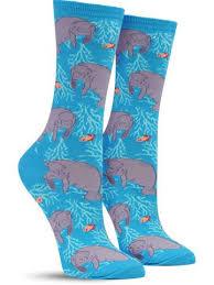 oh the hu manatee animal socks for