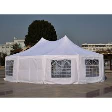 Uk Canopy Tent by Outsunny 8 9x6 5 M Waterproof Marquee Canopy White Aosom Co Uk