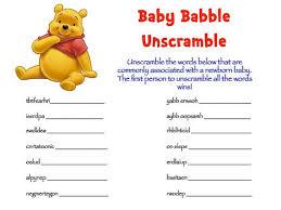 Free Baby Shower Scramble Games - free online baby shower games printables baby shower ideas