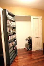 Cheap Closet Door Ideas Closet Bookcase Closet Door Bookshelf Closet Door Plans Shelf