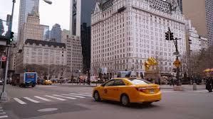 new york city ny november 24 taxi on new york city sidewalk
