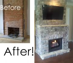 brick fireplace before and stone fireplace brick fireplace before