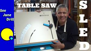 How To Use Table Saw How To Use A Table Saw Cross Cut Sled Youtube