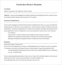 combination resume template functional resume template 15 free