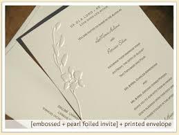 embossed wedding invitations embossed orchid wedding invitation stationery letterpress