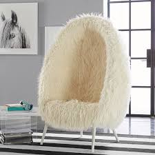 White Fluffy Desk Chair Dining Room The Most Fluffy Desk Chair Gallery Image Azccts Inside