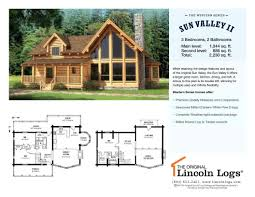log home floorplan sun valley ii the original lincoln logs