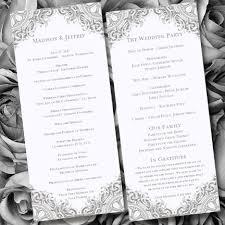 Wedding Anniversary Program Wedding Ceremony Program Template Vintage Gray By Weddingtemplates