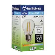 Led Light Bulb Dimmable westinghouse 0316600 5w 40w a15 dimmable warm white filament led