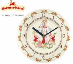 wall hanging bunnykins nursery clock by royal doulton plastic
