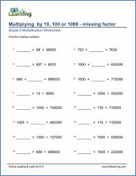 grade 5 multiplication u0026 division worksheets free u0026 printable