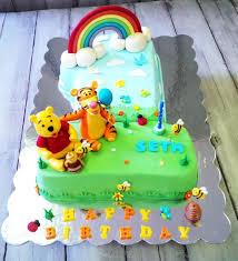 pooh u0026 tiger 1st birthday cake cake by easy party u0027s cakesdecor