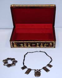 necklace jewellery boxes images Egyptian jewelry box the art of war initiative jpg