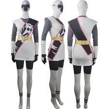Power Rangers Halloween Costumes Adults Power Rangers Ninja Steel Cosplay White Ranger Hayley Foster