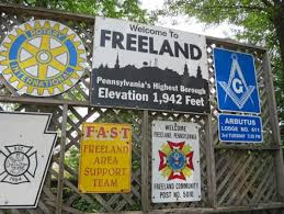Pennsylvania travelers images Not so fast freeland borough claiming to be pa 39 s highest really jpg