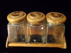 clear glass kitchen canister sets gorgeous pair of vintage green glass canisters with wooden tops