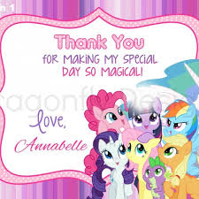 8 best images of my little pony free printable thank you card my